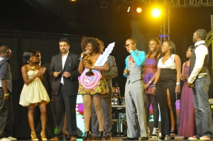 Omawumi wins a car key Photo: HHW