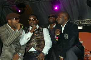 Banky, Olu Maintain and eLDee at the Inspire Africa Concert