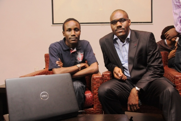 Journalist Tolu ogunlesi and his mentor, the writer Toni Kan