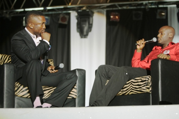 Darey's pink socks might have put 2Face to sleep...