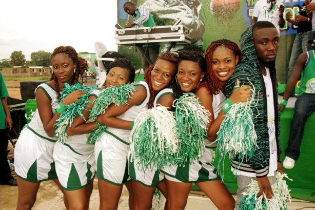 Cheerleaders: Give us an S! Give us a P! Give us an R! Ice Prince: Ladies, that's not how to spell Ice!