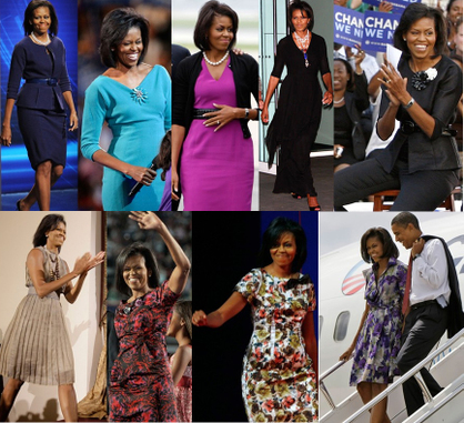 The many looks of Mrs. Obama (photo fashiontribes.typepad.com)