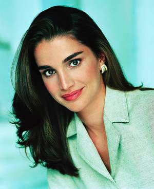 How could I leave out Queen Rania of Jordan. Although she resembles a Bollywood version of Brooke Shields, she's not just a pretty face - Google her. (photo www.p4peace.com)