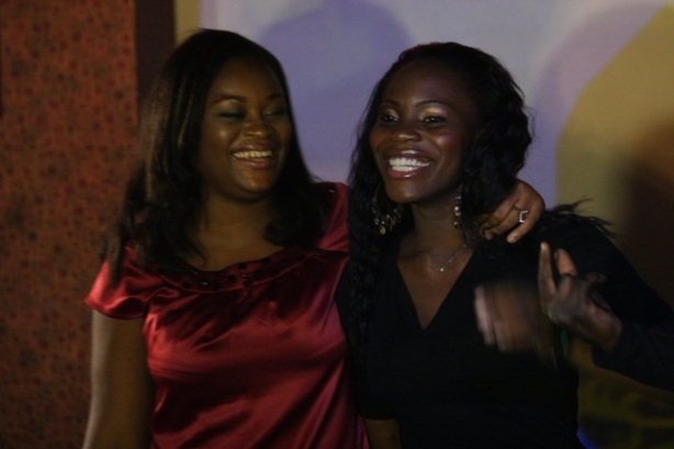 Mary and Lilian at the eviction party