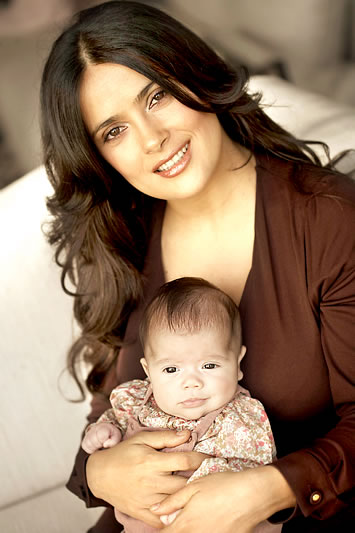 When Salma is not breast-feeding strangers' babies she tending to her own (photo big927fm.com)
