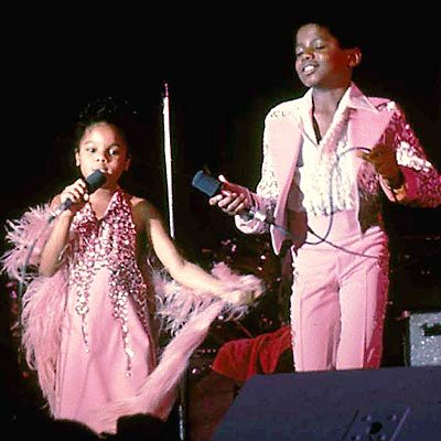 Aged 5, Janet took to the stage just like her big bro Michael (Photo People.com)