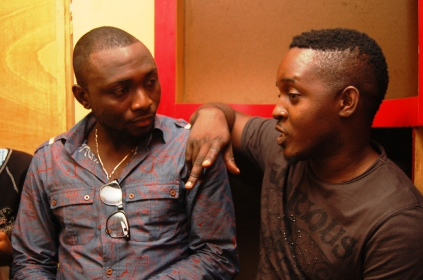 MI, who features on the track, hangs with up and coming artist Sleeq