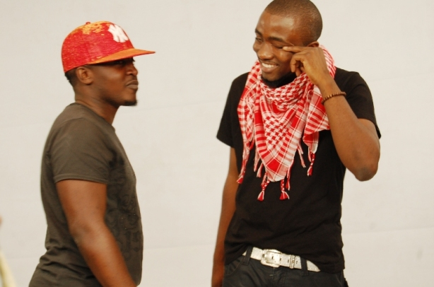 """Ice Prince: """"God, M, you crack me up...that's a sparkly baseball cap isn't it?"""""""